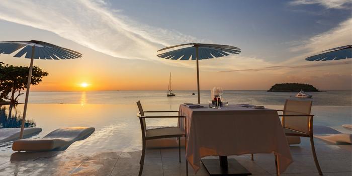 Oceanfront from Oceanfront Restaurant in Kok-Tanode Road Karon Muang Phuket, Thailand