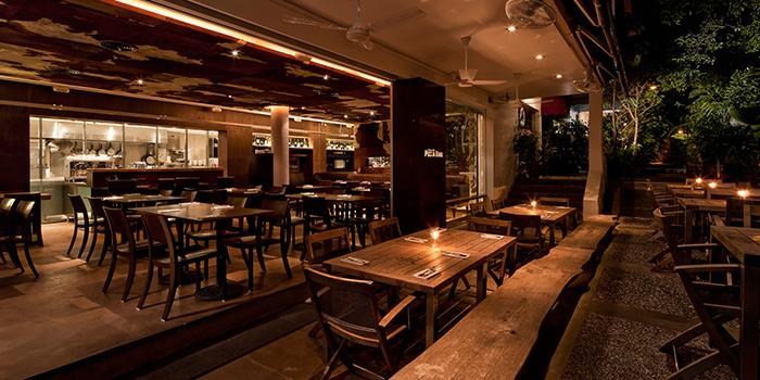 Interior of Da Paolo Pizza Bar in Holland Village, Singapore
