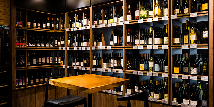 Wine Collection of The Winery Tapas | Bar in City Hall, Singapore