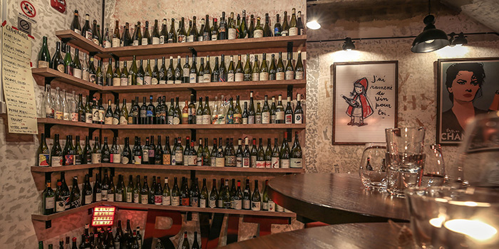 Wine Wall of RVLT in Clarke Quay, Singapore