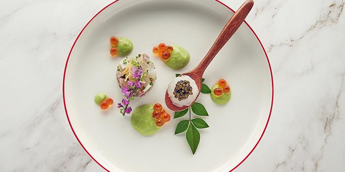Aji Tataki Asparagus Sauce, NOBU InterContinental Hong Kong, Tsim Sha Tsui East, Hong Kong
