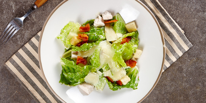 Caesar salad from BottomsUp Thonglor at 888 Sukhumvit Soi 55 Bangkok