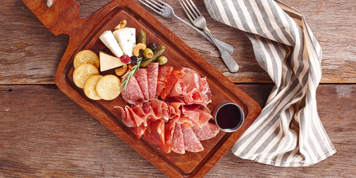 Cheese & Cold cut Platter from BottomsUp Thonglor at 888 Sukhumvit Soi 55 Bangkok