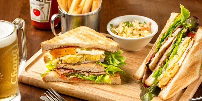 Club Sandwich from The Kiwi Pub Sports & Grill at 4/4-5 Soi Preeda, Soi Sukhumvit 8, Khlong Toei Bangkok