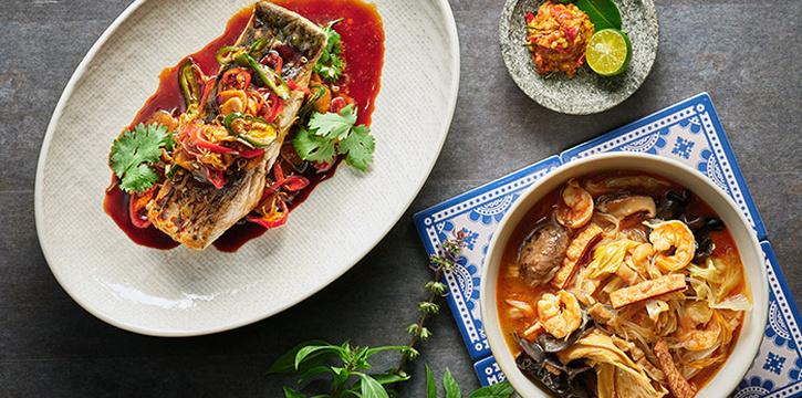 Barramundi Prepared from Indigo Blue Kitchen in Orchard, Singapore