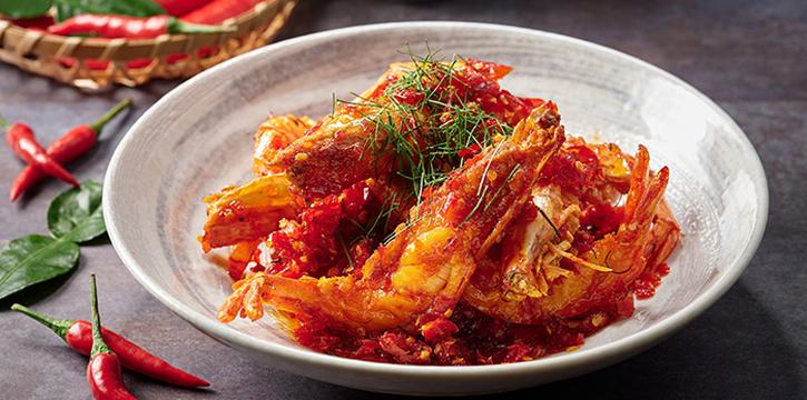 Prawns Chilli Garam from Indigo Blue Kitchen in Orchard, Singapore