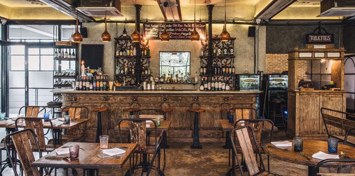 The Bar of Cagette Canteen & Deli at 15, Yenakart rd, Thunghmahamek Bangkok