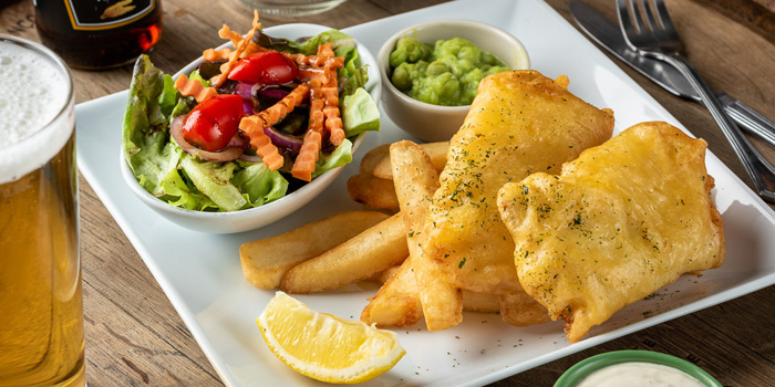 Fish & Chips from The Kiwi Pub Sports & Grill at 4/4-5 Soi Preeda, Soi Sukhumvit 8, Khlong Toei Bangkok