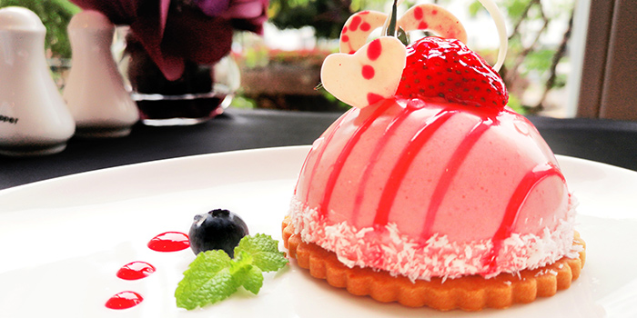 French Strawberry Cream Entremet Dome Cake (11-12 May) from The FernTree Cafe at Hotel Miramar in River Valley, Singapore