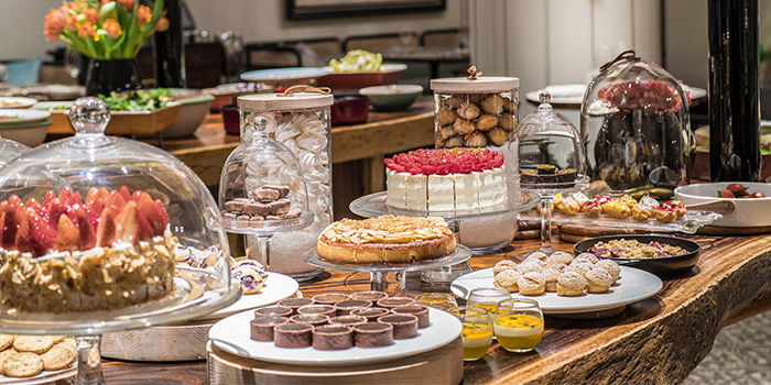 Dessert Spread from One-Ninety Restaurant at Four Seasons Hotel Singapore in Orchard Road, Singapore