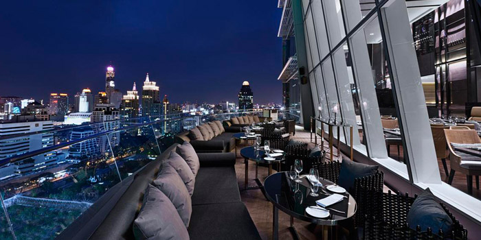 Outdoor Seating of Up & Above at The Okura Prestige Bangkok Hotel 57 Witthayu Rd, Lumphini, Pathum Wan Bangkok
