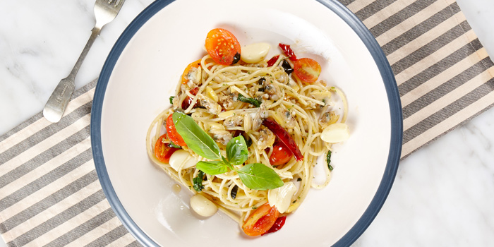 Pasta Vongole from BottomsUp Thonglor at 888 Sukhumvit Soi 55 Bangkok