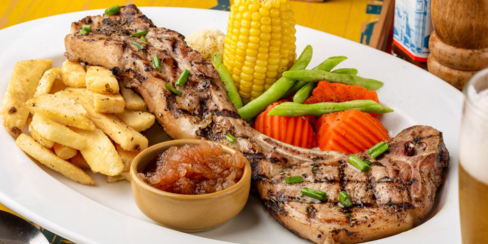 Pork Chop from The Australian Pub & BBQ at from The Australian Pub & BBQ at 37 Sukhumvit Soi 11 Khlong Tan Nuea, Wattana Bangkok