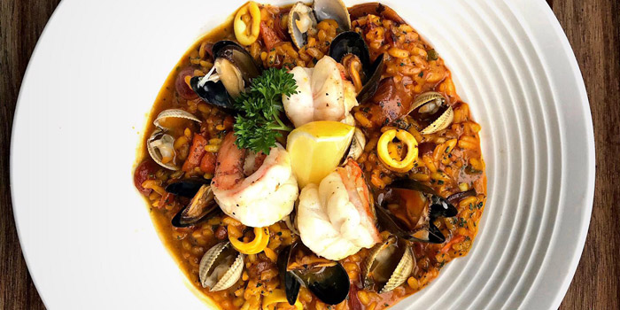 Seafood Risotto from Cagette Canteen & Deli at 15, Yenakart rd, Thunghmahamek Bangkok