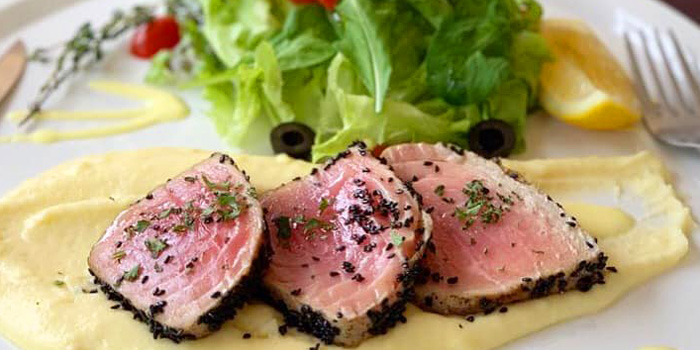 Seared Tuna from La Scarpetta at 1495 Charoenkrung Road, Bangrak Bangkok