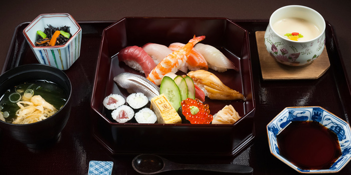 Signature Dishes from Yamazato at The Okura Prestige Bangkok Hotel 57 Witthayu Rd, Lumphini, Pathum Wan Bangkok