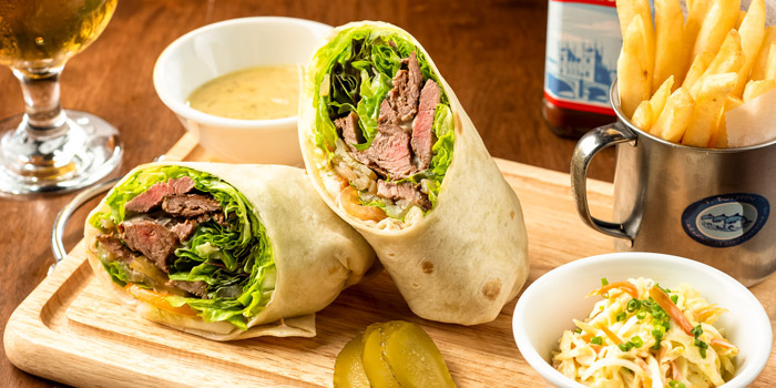 Steak Wrap from The Kiwi Pub Sports & Grill at 4/4-5 Soi Preeda, Soi Sukhumvit 8, Khlong Toei Bangkok