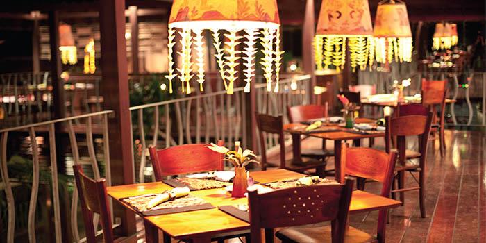 Interior from Lamak Restaurant, Ubud, Bali