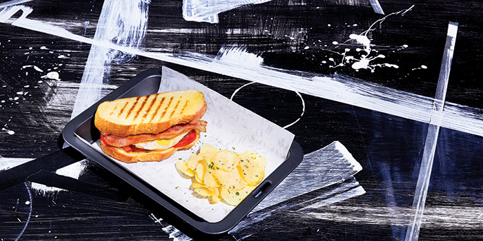 Bacon and Egg Panini, Greyhound Cafe (New Town Plaza), Sha Tin, Hong Kong