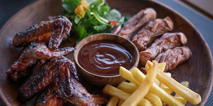 Food from Berlin Gastro Kitchen and Pool Bar, Kuta, Bali