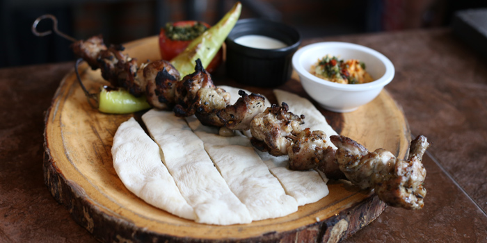 Chicken Skewer Kebab from Roots - Bangkok at K- Village, Bangkok