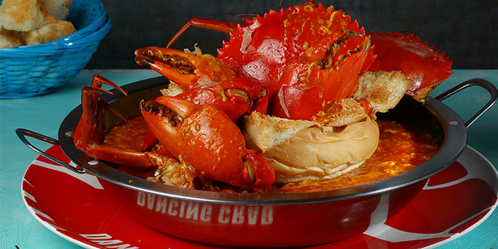 Chilli Crab Bread Bowl from Dancing Crab in Bukit Timah, Singapore