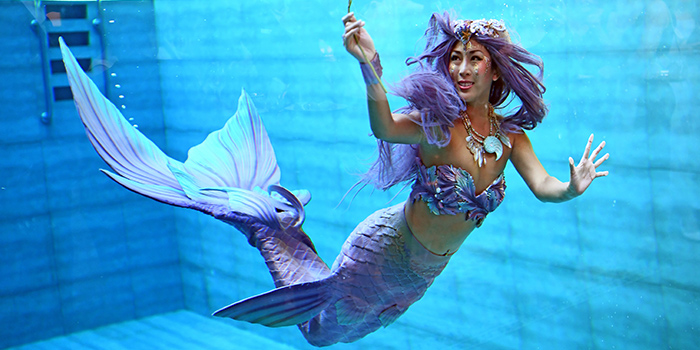 Mermaid from Fish Pool at The NCO Club in City Hall, Singapore2