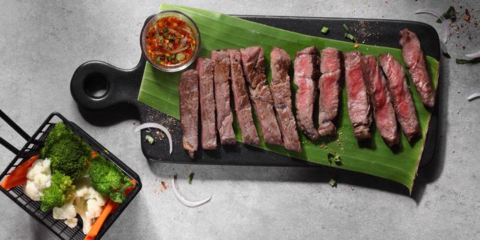 Grilled Beef from Buranee Bar & Bistro at 23 Phra Athit Rd Chanasongkram, Phranakhon Bangkok