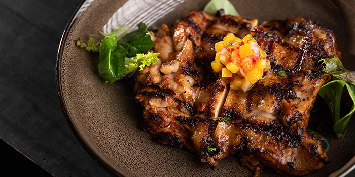 Grilled Chipotle Chicken from Praelum Wine Bistro in Duxton, Singapore