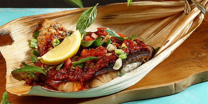 Grilled Kuhlbarra Barramundi Fillet from Dancing Crab in Orchard, Singapore
