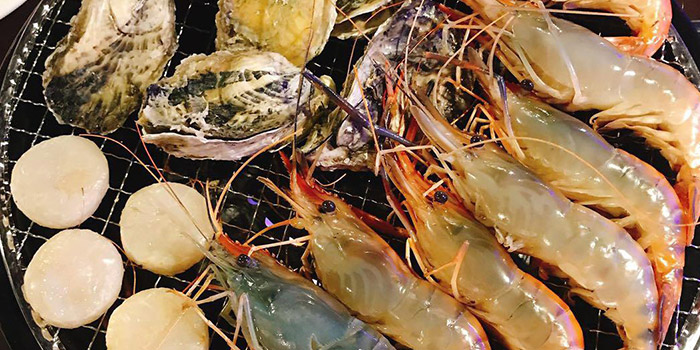 Grilled Seafood, Thai BBQ Shrimp, Yuen Long, Hong Kong