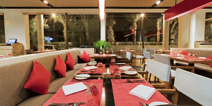 Interior of  Panache Restaurant in Bangtao, Phuket, Thailand.