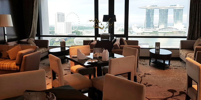 View from Sky Lounge at Peninsula Excelsior Hotel in City Hall, Singapore