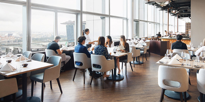 Dining Room of LeVeL33 in Marina Bay Financial Centre in Marina Bay, Singapore
