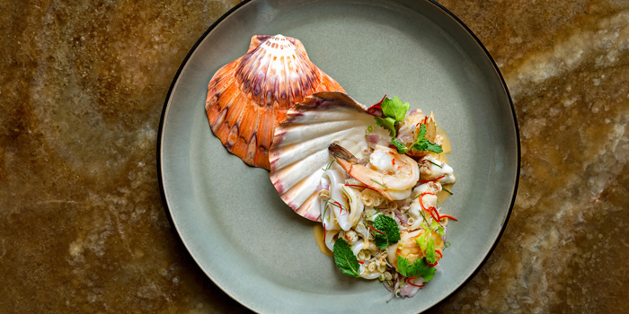 Mixed Seafood Salad from the Courtyard at The House on Sathorn, Bangkok