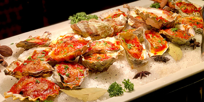 Oysters from Café 2000 at M Hotel in Tanjong Pagar, Singapore