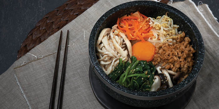 Pork bibimbap From Tetsu at Central Embassy 5th Floor, Pleonjit Road Lumpini, Pathumwan Bangkok