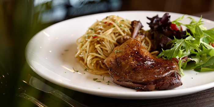 Duck Confit with Spaghetti from 4+U Bar+Kitchen in Tiong Bahru, Singapore