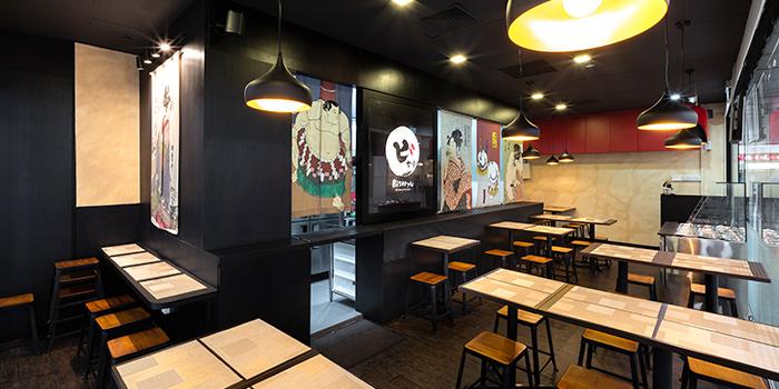 Interior of Biseryu Japanese Restaurant in Orchard, Singapore