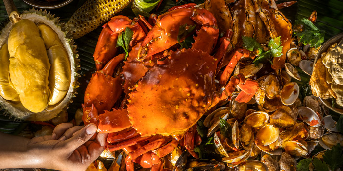 Seafood Shellout from Four Seasons Durians Restaurant at Jewel Changi Airport in Changi, Singapore
