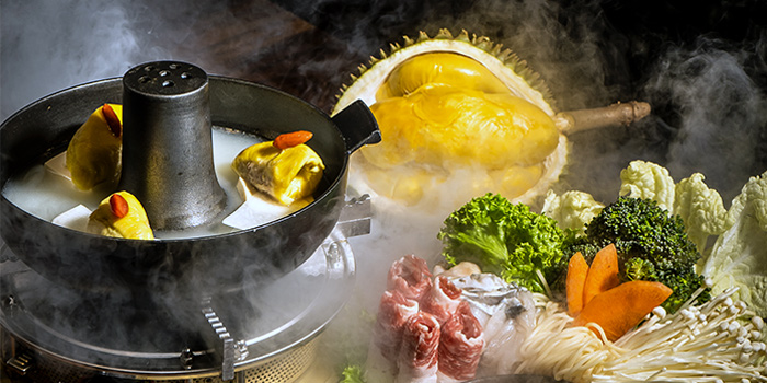 Mao Shan Wang Durian Hotpot from Four Seasons Durians Restaurant at Jewel Changi Airport in Changi, Singapore