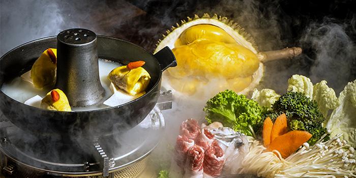 Mao Shan Wang Durian Hotpot from Four Seasons Restaurant at Jewel Changi Airport in Changi, Singapore
