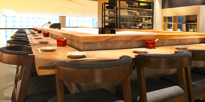 Interior from Koji Sushi Bar (Raffles City) in City Hall, Singapore