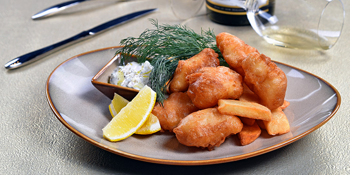 Beer Battered Fish and Chips from Mpire Restaurant & Bar in Telok Ayer, Singapore