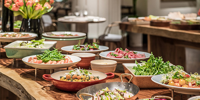 Spread from One-Ninety at Four Seasons Hotel Singapore in Orchard Road, Singapore