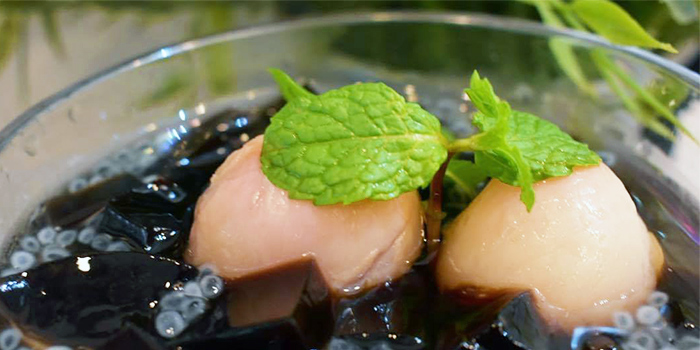 Grass Jelly Lime from San Laksa Steamboat in Telok Blangah, Singapore