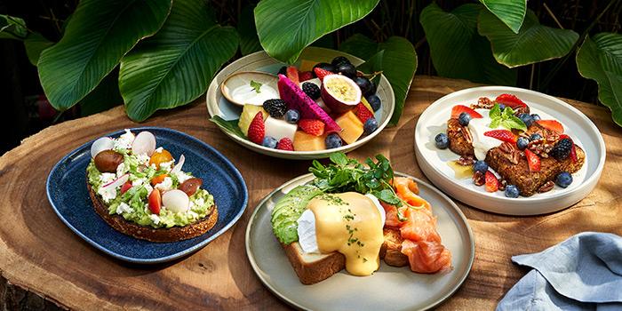 Brunch from Tanjong Beach Club - The Dining Room on Tanjong Beach Walk on Sentosa Island, Singapore