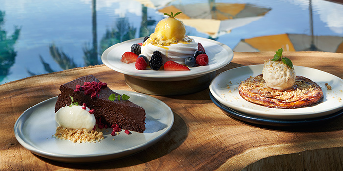 Desserts from Tanjong Beach Club - The Dining Room on Tanjong Beach Walk on Sentosa Island, Singapore