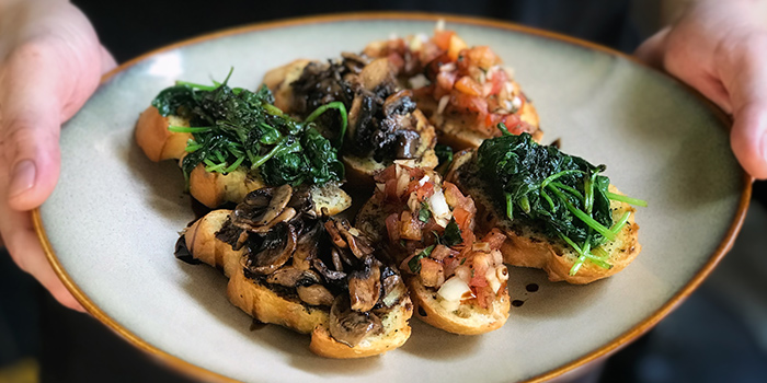 Bruschetta from Tapasta Bar in Telok Ayer, Singapore