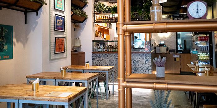 Interior of Tapasta Bar in Telok Ayer, Singapore